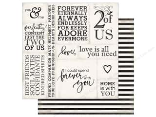 "Echo Park Collection Wedding Bliss Paper 12""x 12"" Loving Words (25 pieces)"
