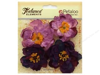 Petaloo Botanica Collection Ruffled Peony Purple 4pc