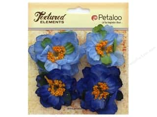 Clearance: Petaloo Botanica Collection Ruffled Peony Blue 4pc
