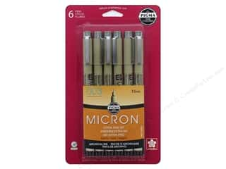 Sakura Pigma Micron Pen .15mm Black 6pc