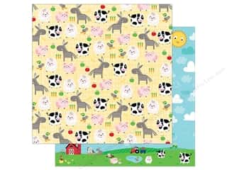 "scrapbooking & paper crafts: Bella Blvd Collection Barnyard Paper 12""x 12"" Family Farm (25 pieces)"