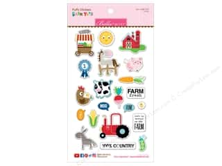 Clearance: Bella Blvd Collection Barnyard Sticker Puffy Icons