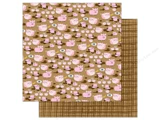 """Bella Blvd Collection Barnyard Paper 12""""x 12"""" Oink Oink (25 pieces)"""