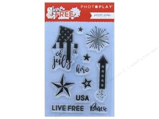 scrapbooking & paper crafts: Photo Play Collection Live Free Polymer Stamp (3 sets)