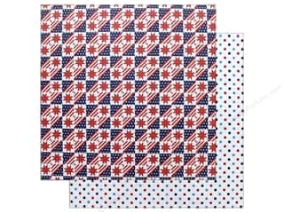 "scrapbooking & paper crafts: Photo Play Collection Live Free Paper 12""x 12"" Stars & Stripes (25 pieces)"