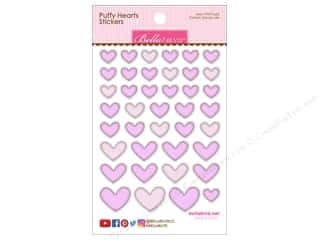 Bella Blvd Sticker Puffy Hearts Cotton Candy