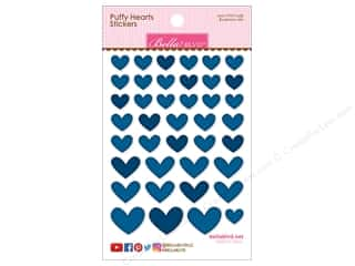 scrapbooking & paper crafts: Bella Blvd Sticker Puffy Hearts Blueberry