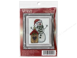 yarn & needlework: Design Works Counted Cross Stitch Kit 2 x 3 in. Birdhouse