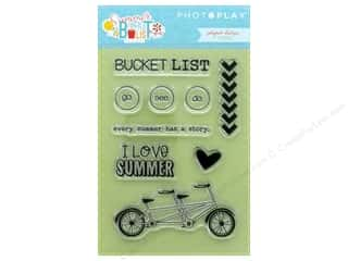 dies: Photo Play Collection Summer Bucket List Polymer Stamp Icon