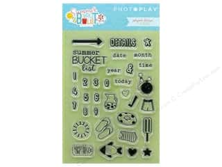 Photo Play Collection Summer Bucket List Polymer Stamp Planner