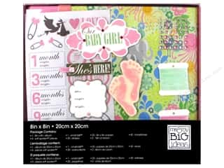 "stickers: Me&My Big Ideas Album Kit Box 8""x 8"" Baby Girl"