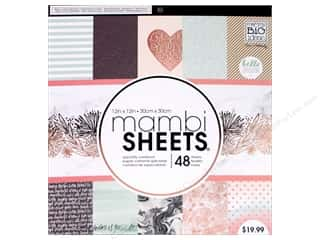 pink card stock: Me & My Big Ideas Sheets 12 x 12 in. Cardstock Pad Rose Marble