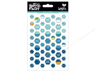 scrapbooking & paper crafts: Bella Blvd Collection Illustrated Faith Basics Sticker Epoxy Mix Mini Hexies Mrs. Blueberry