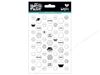 Bella Blvd Collection Illustrated Faith Basics Sticker Epoxy Mix Mini Hexies Hey Sugar Sugar