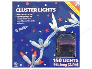 craft & hobbies: Darice Light Cluster 150ct 9 ft. Red/White/Blue