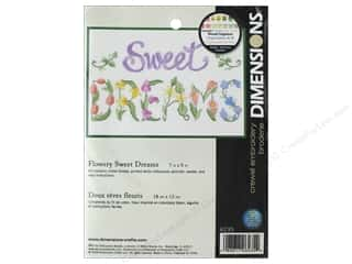 yarn & needlework: Dimensions Crewel Embroidery Kit 7 in. x 5 in. Flowery Sweet Dreams