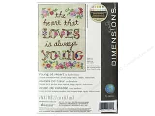 "yarn & needlework: Dimensions Embroidery Kit 5""x 7"" Young At Heart"
