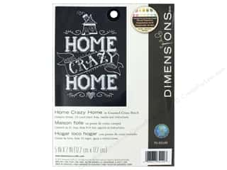 yarn & needlework: Dimensions Cross Stitch Kit 5 in. x 7 in. Home Crazy Home