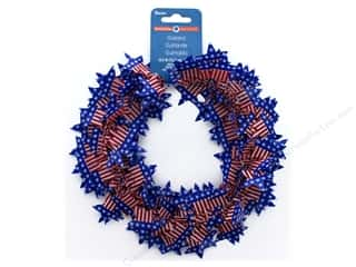 novelties: Darice Garland Stars 29.9 in. American Flag