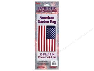 novelties: Darice Garden Flag Nylon 13 in. x 18 in. Patriotic Red/White/Blue