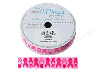 Darice Ribbon 5/8 in. x 3 yd. Pink Awareness