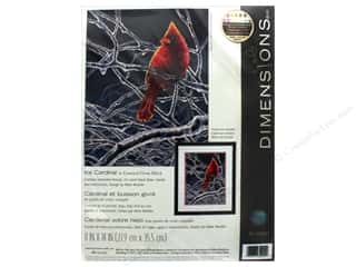 "yarn & needlework: Dimensions Cross Stitch Kit 11""x 14"" Ice Cardinal"