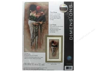 "yarn & needlework: Dimensions Cross Stitch Kit 7""x 14"" The Rose"