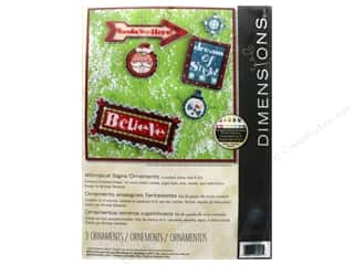 projects & kits: Dimensions Counted Cross Stitch Kit Whimsical Signs Ornaments