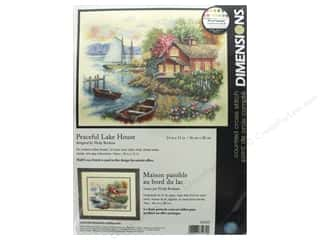 "stamps: Dimensions Cross Stitch Kit 14""x 11"" Peaceful Lake House"