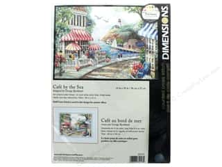 """Dimensions Cross Stitch Kit 14""""x 10"""" Cafe By The Sea"""
