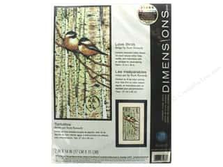 Dimensions Counted Cross Stitch Kit 7 x 14 in. Love Birds