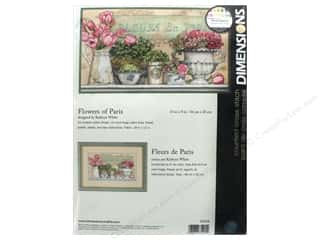 "yarn & needlework: Dimensions Cross Stitch Kit 14""x 8"" Flowers Of Paris"