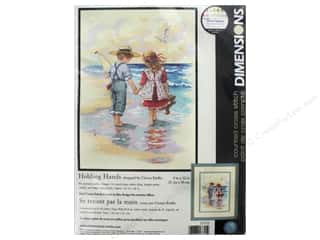 """Dimensions Cross Stitch Kit 9""""x 12"""" Holding Hands Picture"""