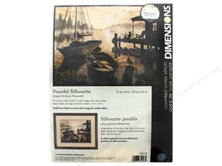 "stamps: Dimensions Cross Stitch Kit 13""x 10"" Peaceful Silhouette"