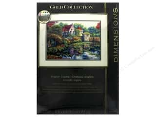 "stamps: Dimensions Cross Stitch Kit Gold Collection 14""x 10"" English Castle"