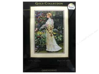 """yarn & needlework: Dimensions Cross Stitch Kit Gold Collection 11""""x 16"""" In Her Garden"""