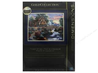 "stamps: Dimensions Cross Stitch Kit Gold Collection 14""x 11"" Twilight Bridge"