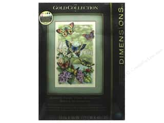 """yarn & needlework: Dimensions Cross Stitch Kit Gold Collection 10""""x 16"""" Butterfly Forest"""