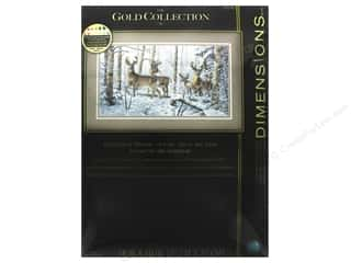"yarn & needlework: Dimensions Cross Stitch Kit Gold Collection 18""x 10"" Woodland Winter"