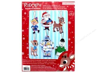 yarn & needlework: Dimensions Cross Stitch Kit Rudolph Ornaments