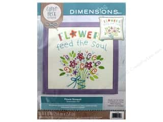 "yarn & needlework: Dimensions Embroidery Kit 10""x 10"" Cathy Heck Flower Bouquet"