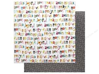 "Bella Blvd Collection Delight In His Day Paper 12""x 12"" Happy Heart (25 pieces)"