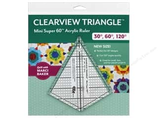 C&T Publishing Ruler Clearview Triangle Mini Super 60