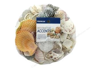 candle color: Panacea Decorative Accents Seashells Mesh Bag Assorted 32 oz