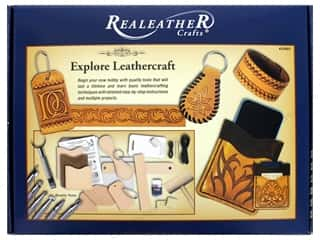 craft & hobbies: Silver Creek Realeather Kit Explore Leathercraft