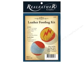 projects & kits: REALEATHER by Silver Creek Kit Footbag 2 pc