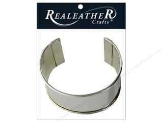"Silver Creek Realeather Findings Cuff Blank Bracelet 2"" Nickel"