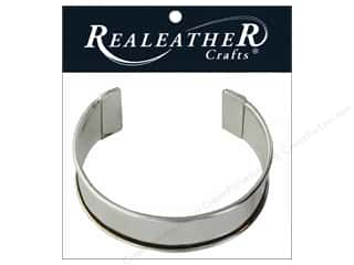 "Silver Creek Realeather Findings Cuff Blank Bracelet 1"" Nickel"