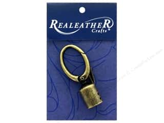 REALEATHER by Silver Creek Findings Tassel Clip 1pc Antique Brass