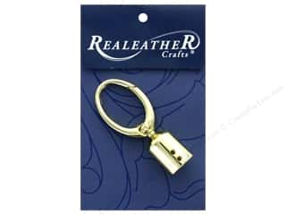 craft & hobbies: REALEATHER by Silver Creek Findings Tassel Clip 1 pc Gold